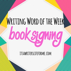 Writing Word of the Week Book Signing