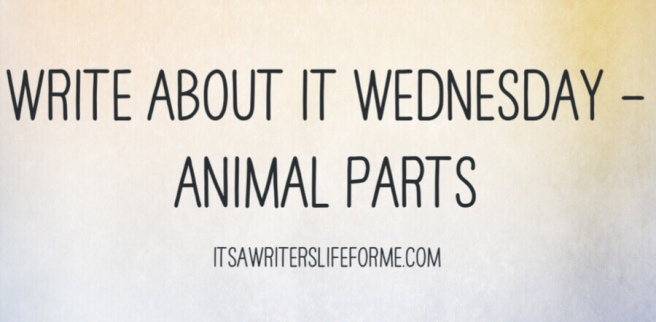 Write about it wednesday animal parts its a writers life for me